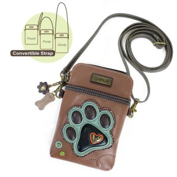 Teal Paw Print - Cell Phone Xbody