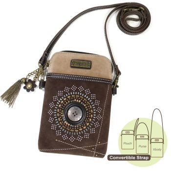 Starburst - Dazzled Cell Phone Xbody (Dark Brown)