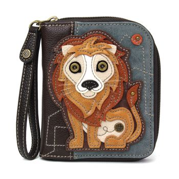 Lion - Zip Around Wallet