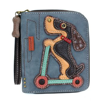 Wiener Dog Scooter - Zip Around Wallet