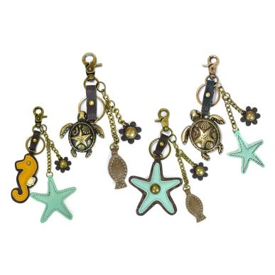 Sea Life - Value Pack of 8 Assorted Keychains