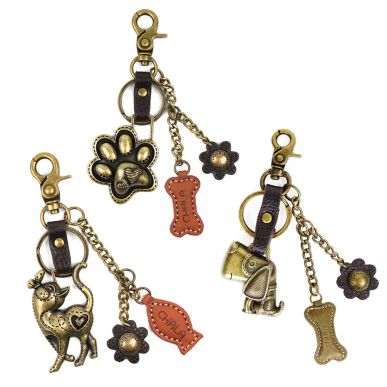 Pet Assortment - Value Pack of 8 Assorted Keychains