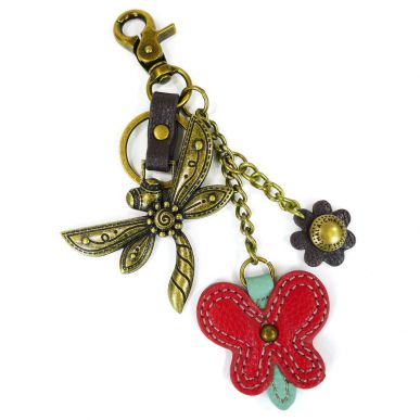Charming Key Chain - Dragonfly & Butterfly