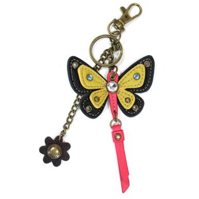 Butterfly Mini Keychain - Yellow
