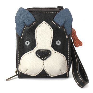 Cute-C - Credit Card Holder / Wallet Wristlet - Boston Terrier
