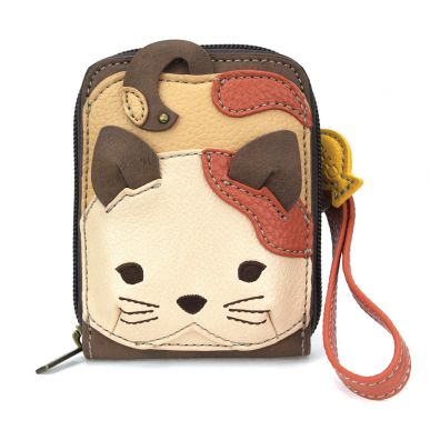 Cute-C - Credit Card Holder / Wallet Wristlet - Cat