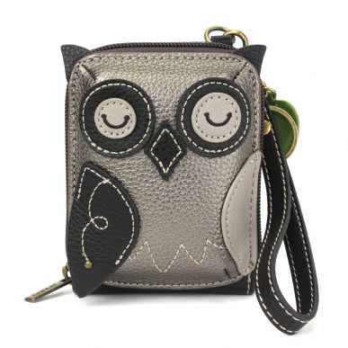 Cute-C - Credit Card Holder / Wallet Wristlet - Owl