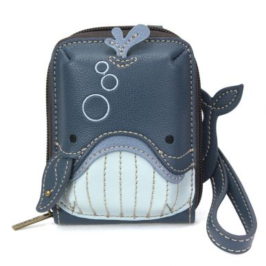 Cute-C - Credit Card Holder / Wallet Wristlet - Whale