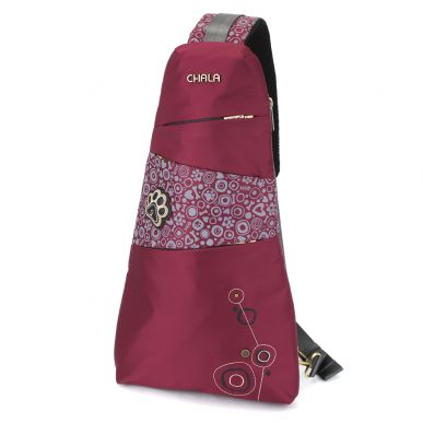 CV-Escape Sling Backpack - Pawprint - Burgundy