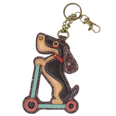 Key Fob - Wiener Dog Scooter