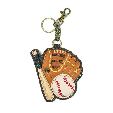 Coin Purse / Key Fob - Baseball