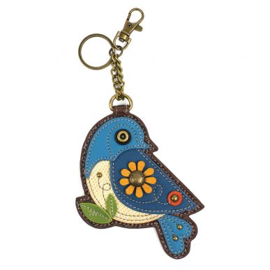 Blue Bird - Key Fob/Coin Purse