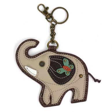 Gray Elephant - Key Fob/Coin Purse