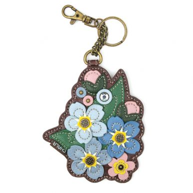 Coin Purse / Key Fob - Forget Me Not