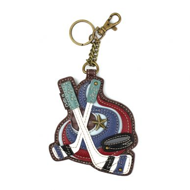Coin Purse / Key Fob - Hockey