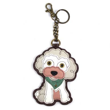 Poodle - Key Fob/Coin Purse