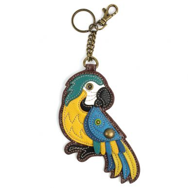 Parrot-Blue - Key Fob/Coin Purse