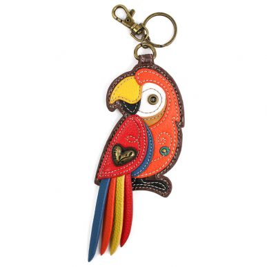 Red Parrot - Key Fob/Coin Purse