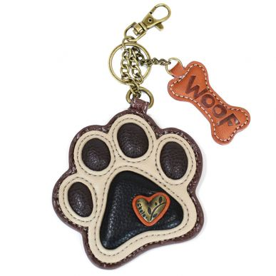 Ivory Paw Print - Key Fob/Coin Purse