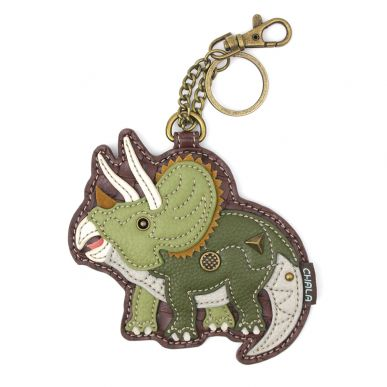 Coin Purse / Key Fob - Triceratops