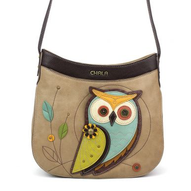 Owl-A - Crescent Crossbody-taupe