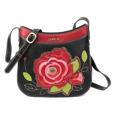Crescent Crossbody - RedRose - Black
