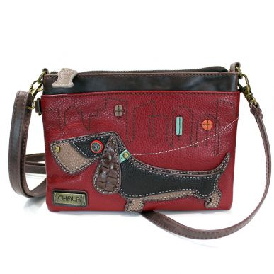 Wiener Dog - Mini Crossbody (Burgundy)