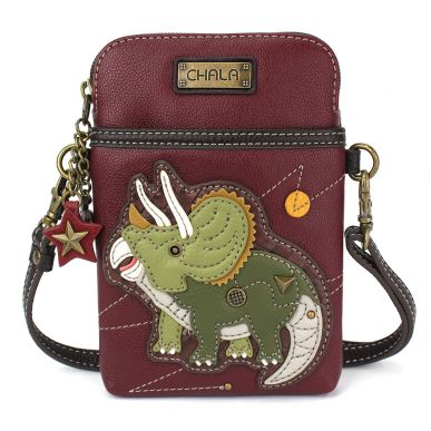 Cellphone Xbody - Triceratops - Maroon