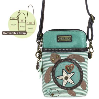 Sea Turtle - Cell Phone Xbody (Teal Stripe)