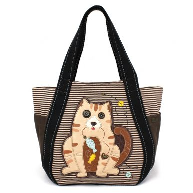 Carryall Ziptote - Cat Gen II - BrownStripe