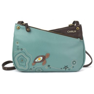 Criss Crossbody - Turtle - Teal