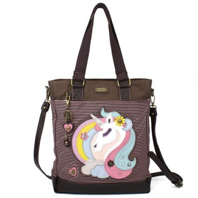 Unicorn - Work Tote - Pink Stripe