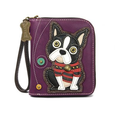 Boston Terrier - Zip Around Wallet