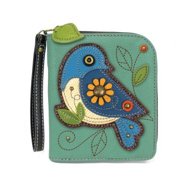 Blue Bird - Zip Around Wallet