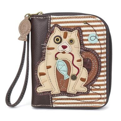 Zip-AroundWallet-Cat Gen II -brownStripe