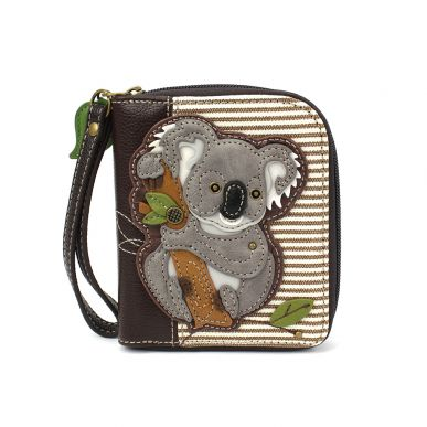 Zip-Around Wallet - Koala - Brown Stripe