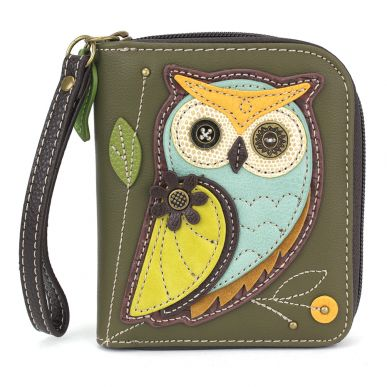 Owl A - Zip Around Wallet