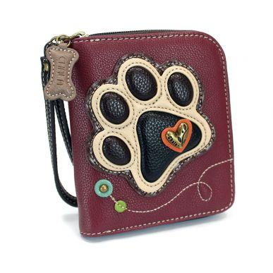 Ivory Paw Print - Zip Around Wallet
