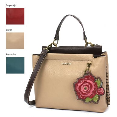 Charming Satchel - Red Rose