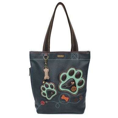 Teal Paw Print - Everyday Zip Tote II
