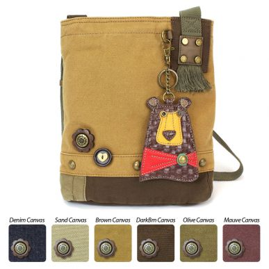 Brown Bear - Patch Crossbody Bag