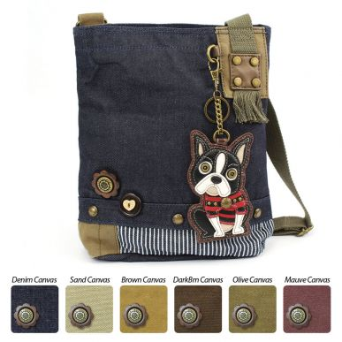 Boston Terrier - Patch Crossbody Bag
