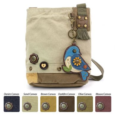 Blue Bird - Patch Crossbody Bag