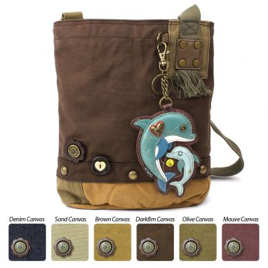 Dolphin - Patch Crossbody Bag