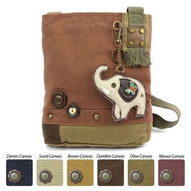 Gray Elephant - Patch Crossbody Bag