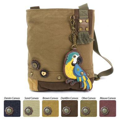Parrot-Blue - Patch Crossbody Bag