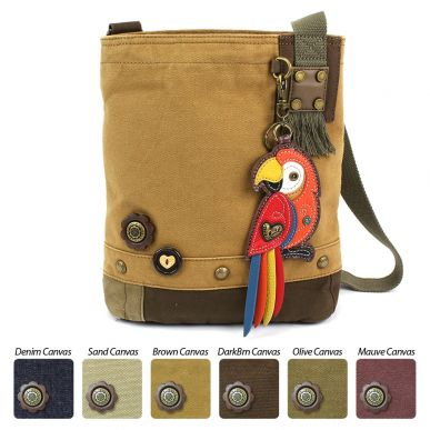 Parrot-Red - Patch Crossbody Bag