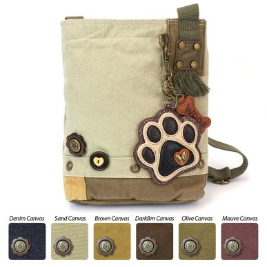 Ivory Paw Print - Patch Crossbody Bag