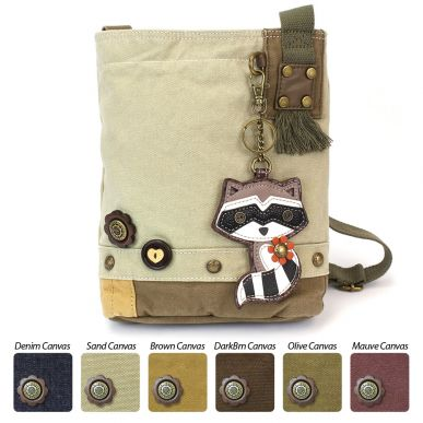 Raccoon - Patch Crossbody Bag