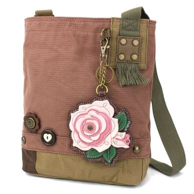 Patch Crossbody - Pink Rose